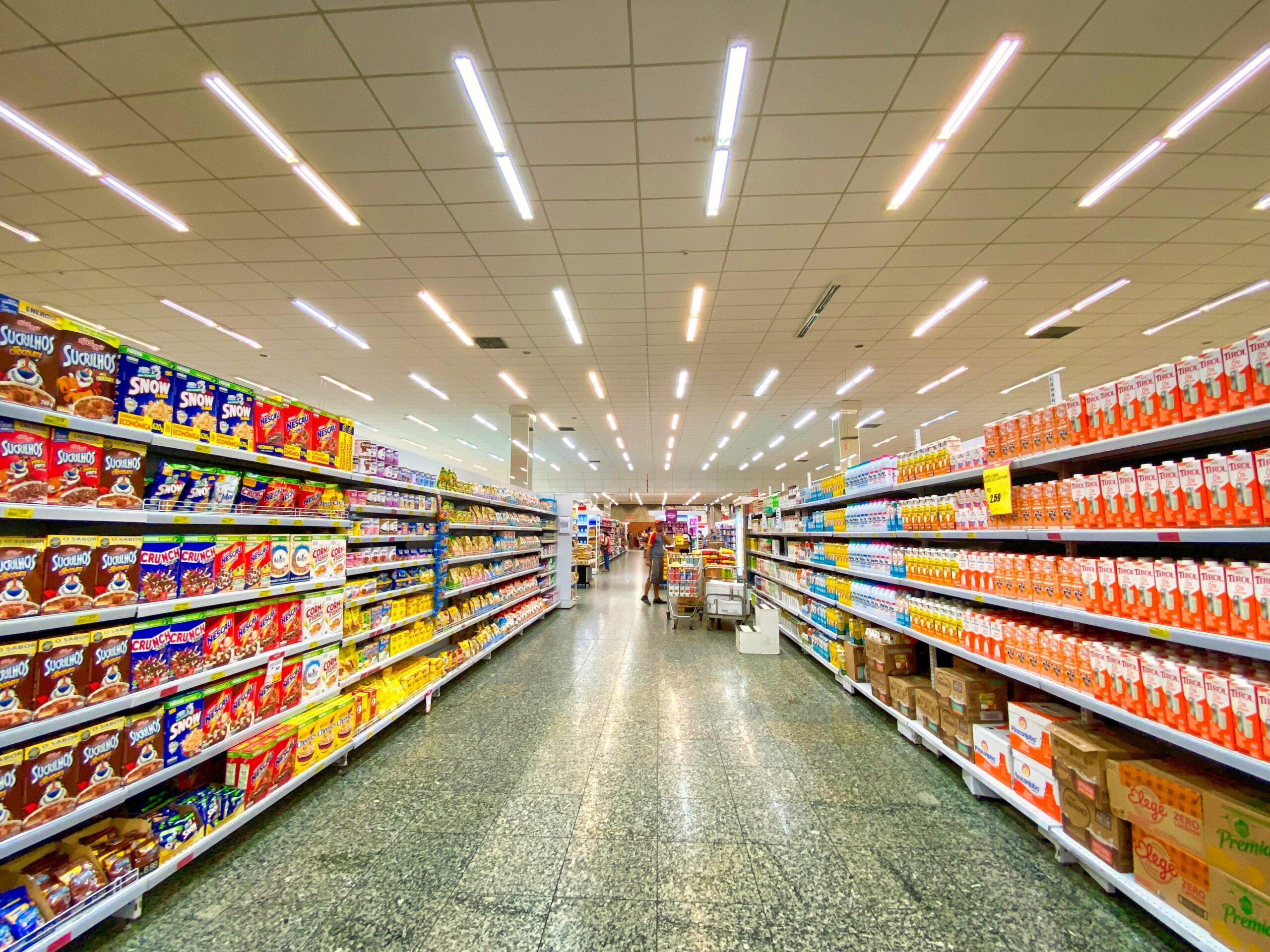 grocery store aisle with organic food